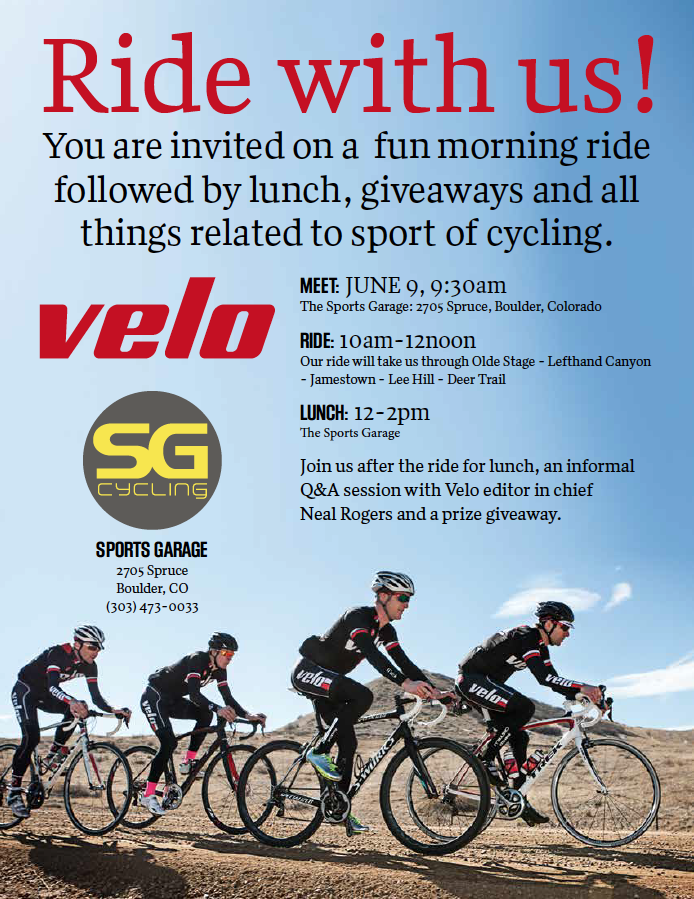 VeloNews Ride and Luncheon